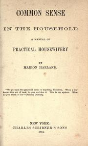 Common sense in the household by Marion Harland