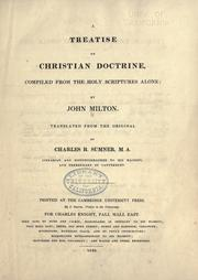 De doctrina Christiana by John Milton