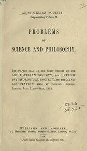 Supplementary volume by The Aristotelian Society