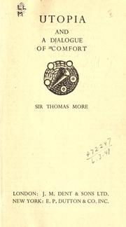 Utopia with the 'Dialogue of comfort' by Thomas More