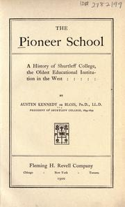 Cover of: The pioneer school by De Blois, Austen Kennedy