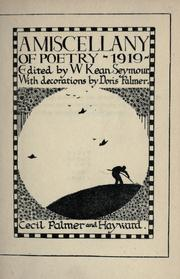 A miscellany of poetry, 1919 by