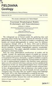 Functional morphological models PDF