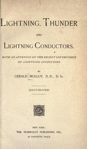 Lightning, thunder and Lightning conductors by Molloy, Gerald