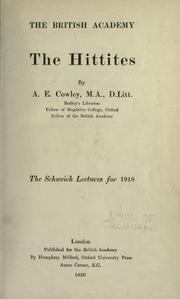 The Hittites by Arthur Ernest Cowley