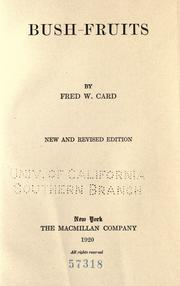 Bush-fruits by Fred W. Card