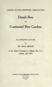 Danish beer & continental beer gardens by Max Henius