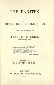 The  Danites by Joaquin Miller