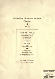 Caprices, by Pierre Rode