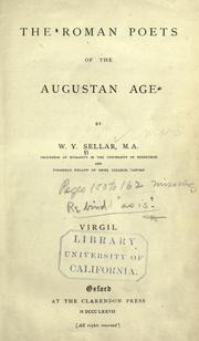 The Roman poets of the Augustan age by William Young Sellar