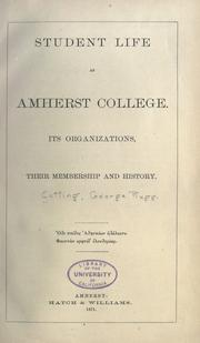 Student life at Amherst College PDF