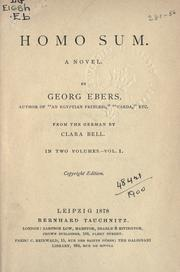 Cover of: Homo sum by Georg Ebers