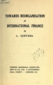 Towards reorganisation of international finance PDF