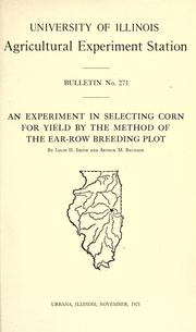 An experiment in selecting corn for yield by the method of the ear-row breeding plot PDF