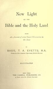 New light on the Bible and the Holy land by B. T. A. Evetts