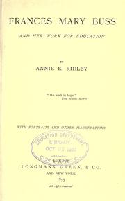 Frances Mary Buss and her work for education PDF