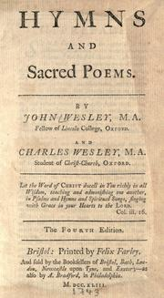 Hymns and sacred poems by John Wesley