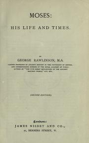 Moses by Rawlinson, George