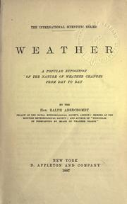 Weather by Ralph Abercromby