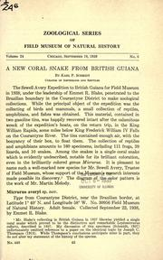A new coral snake from British Guiana PDF