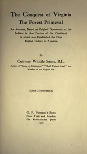 The conquest of Virginia by Conway Whittle Sams