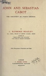 John and Sebastian Cabot by C. Raymond Beazley