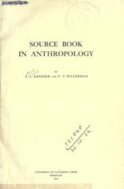Source book in anthropology PDF