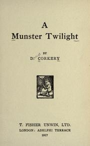 A Munster twilight by Daniel Corkery