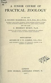A junior course of practical zoology by Arthur Milnes Marshall