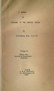 A manual of diseases of the nervous system by W. R. Gowers