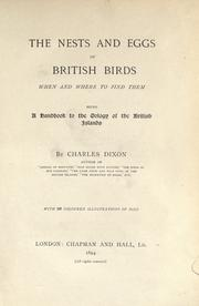 The nests and eggs of British birds by Dixon, Charles
