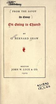 On going to church by George Bernard Shaw