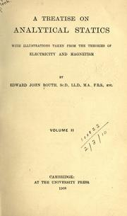 A treatise on analytical statics by Routh, Edward John