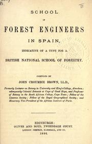 School of forest engineers in Spain by Brown, John Croumbie.