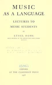 Music As a Language PDF