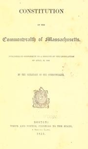 Constitution by Massachusetts.