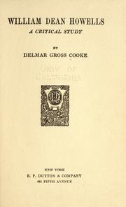 William Dean Howells by Delmar Gross Cooke