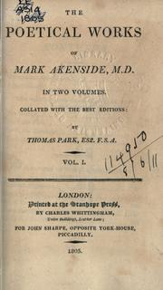 Poetical works by Mark Akenside