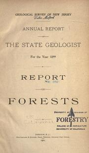 Report on forests by Geological Survey of New Jersey.