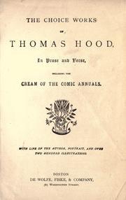 The choice works of Thomas Hood PDF