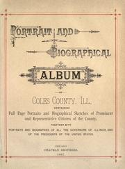 Cover of: Walker Portrait and biographical album of Coles County, Illinois by