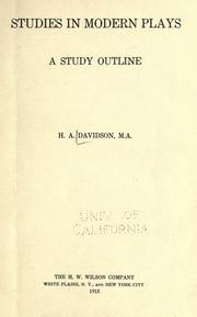 Studies in modern plays PDF