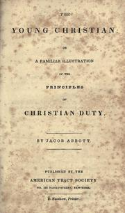 The young Christian by Jacob Abbott