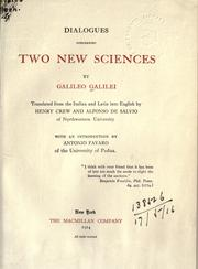 Cover of: Dialogues concerning two new sciences by Galileo Galilei
