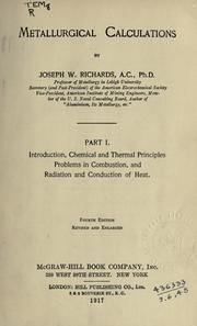 Metallurgical calculations by Joseph William Richards