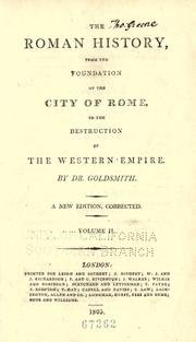 Cover of: The Roman history from the foundation of the city of Rome, to the destruction of the Western empire by Goldsmith, Oliver