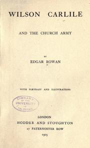 Wilson Carlile and the Church Army PDF