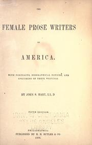 The female prose writers of America by Hart, John S.