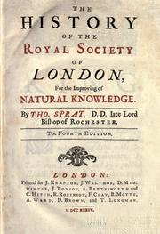 The history of the Royal-Society of London by Thomas Sprat