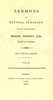 Sermons for the Holy Week by John Keble
